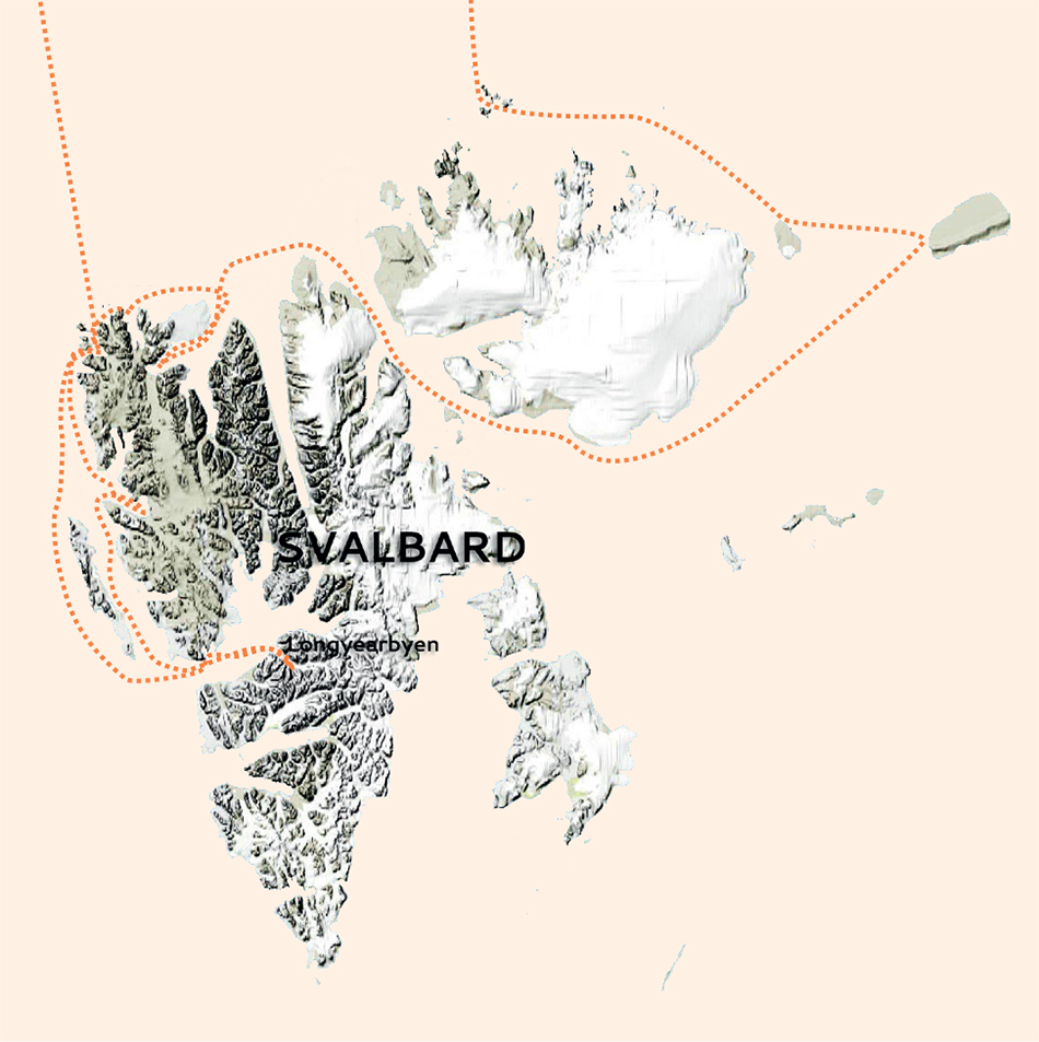 Svalbard Autumn light map